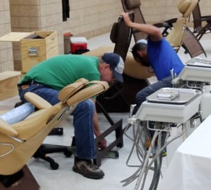 Setting up dental chairs