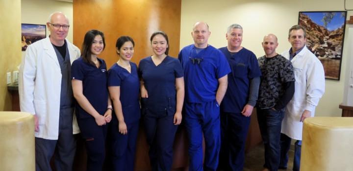 Dr. McCrea, class, and Dr. Chiara