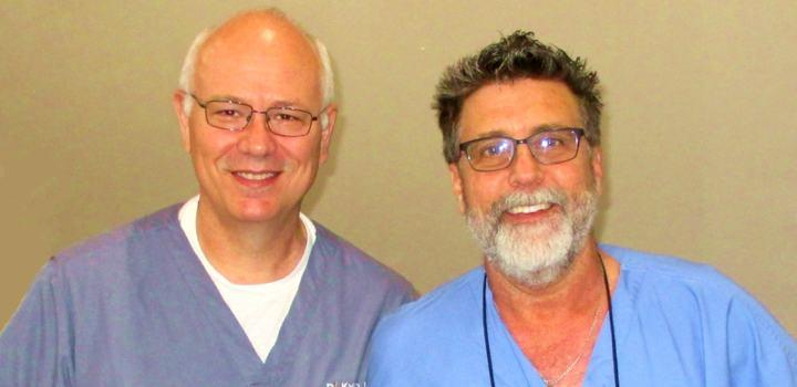 Dr. McCrea and Dr. Guy Rosenstiel, instructor at CIRP
